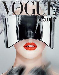 Futuristic Fashion, Vogue Japan, McQueen, Future Fashion, Futuristic Sunglasses, Beauty, red lips, futuristic style, future girl, sunglasses by FuturisticNews.com