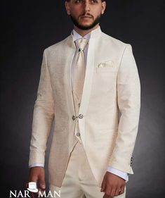 Suits You, Mens Suits, Suit Fashion, Mens Fashion, Tuxedo Shop, Mandarin Collar, Wedding Suits, Dress To Impress, Ready To Wear