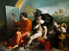 Jupiter, Mercury and Virtue by Dosso Dossi, 1524, is one of the most valuable paintings in the Castle's collection.