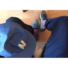 Norse Projects 6 Panel, navy chinos rolled up with Converse Auckland Racers
