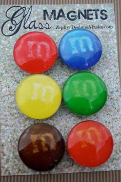 Glass Magnets  Chocoholic by ZephyrDesignsAlaska on Etsy, $8.00