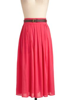 Swish and Spin Skirt in Pink, #ModCloth