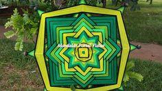 Mandalas Mexicanas. Confeccionamos mandalas com fios em lã e em cordões com varetas de bambu no tamanha que desejar. Solicite orçamento que poderemos confeccionar a tua mandala personalizada ou enviar esta mandala para você.