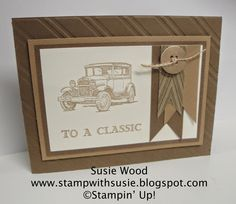 Stamp with Susie: To a CLASSIC card AND keep reading about a BLOG HOP!