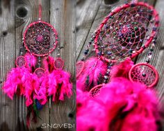 "Dreamcatcher ""Dream about flower dance"" fucsia, pink"