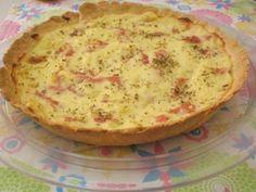 Receita de Quiche de queijo e presunto - Tudo Gostoso