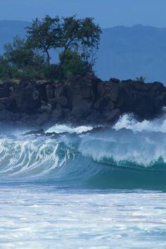 Waimea Shorebreak - Oahu Hawaii.  Bucket list:  Learn to surf.  Already know how to waterski.