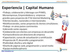Experiencia - Capital Humano  contacto@uinspiring.com http://uinspiring.com/