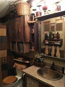 awesome 48 Amazing Country Bathrooms Ideas You Can Imitate primitive ideas primitive signs primitive furniture primitive home primitive bathroom primitive farmhouse Primitive Homes, Primitive Country Bathrooms, Primitive Bathroom Decor, Country Baths, Primitive Kitchen, Rustic Bathrooms, Country Farmhouse Decor, Rustic Decor, Country Primitive