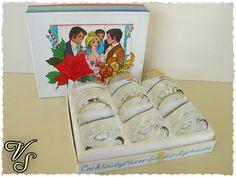 Vintage Gläser - Ingrid Glas - Cocktailgläser - Goldrand - 70er - Von Vintageschippie bei DaWanda.
