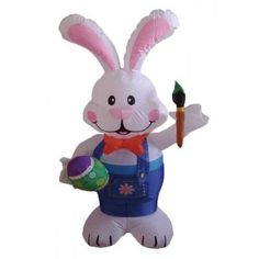 Huge 15 Foot X 5/' Easter Bunny Train Lighted AIR Blown Inflatable Yard Decor