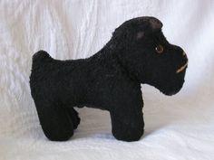 Vintage Black Scottie Dog Stuffed Toy
