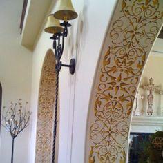 Border Stencils | Arabesque Border Stencil | Royal Design Studio \\ such a great idea, add stencils to the inside of archways