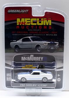 1:64 GREENLIGHT 1965 SHELBY GT350 FASTBACK MECUM EXCLUSIVE #Greenlight #Shelby
