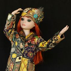 Asian Inspired Swing Jacket Ensemble for 16 inch by foxandfamily