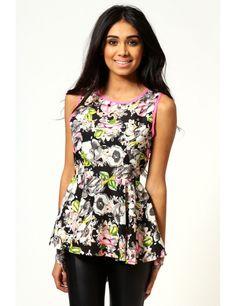 Zega Store - Bluza neon cu imprimeu floral - Femei, Bluze