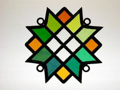 Auseklis (morning star) Traditional Latvian Stained Glass Ornament
