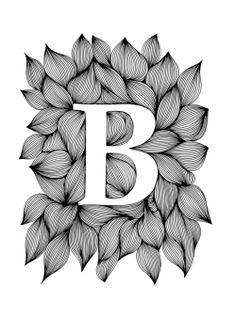 Ellen van de Sande - Palatino bold (Ink on paper, 21 x 30 cm) Zentangle Drawings, Mandala Drawing, Zentangle Patterns, Mandala Art, Mandala Design, Zentangles, Line Art Lesson, Name Drawings, Social Media Art