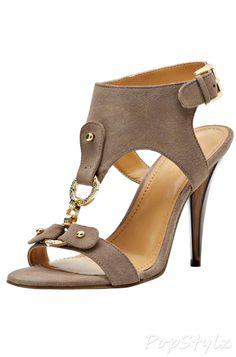 Nine West Bezel Suede Leather Sandal