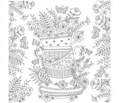 Tea cup stack colouring page                                                                                                                                                                                 More