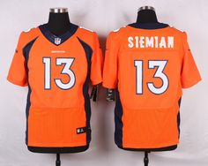 Denver Broncos #13 Trevor Siemian Orange Alternate Stitche Elite Jersey