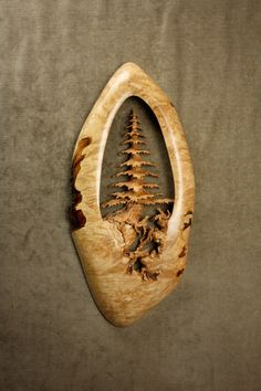 Wood Carving of a Tree Art Sculpture Wall by TreeWizWoodCarvings
