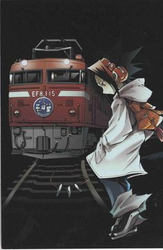 Download Shaman King: Yoh and train (1624x2486) - Minitokyo