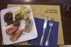 Che cosa mangiare.  Cantina do Spade, Venezia
