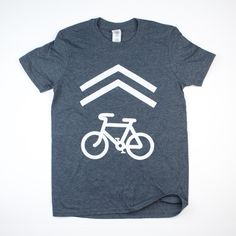 Bike share lane tee shirt.  Dark gray Charcoal color with white ink.