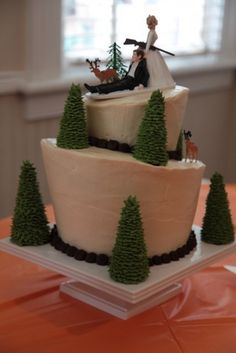 Bow Hunting Grooms Cake | grooms cake