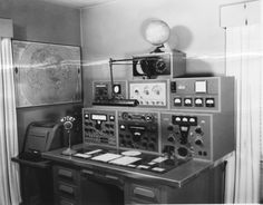 An old radio setup from the 1950s
