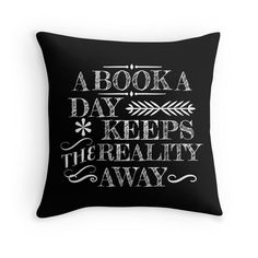 A book a day... by Carol Oliveira Love the throw pillow (and you can get it with the insert for only $27.49)