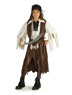 child ages 8 10 years caribbean pirate queen party fancy dress costume girls ebay