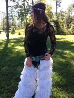 Off White Lace Cowgirl Chaps