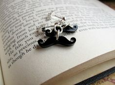 Mustache Earrings by RebeccasWhims on Etsy
