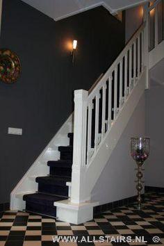 Houten bordes trap met prachtige loper? Allstairs Trappen