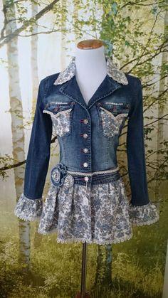 Féminines embelli remodelée Denim Jacket
