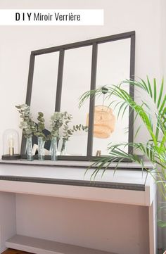 DIY miroir verrière Diy Interior, Interior Design, Diy Door, Ikea Hack, Modern Design, Sweet Home, House Design, Living Room, Mirror