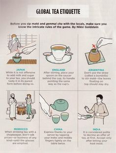 Global Tea Etiquette quote world tea rules tea time history trivia etiquette afternoon tea Tea Etiquette, Dining Etiquette, Etiquette And Manners, Etiquette Dinner, Chai, Pu Erh, Party Set, Cuppa Tea, Thinking Day