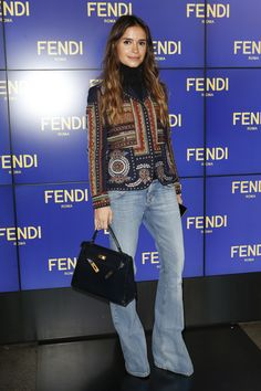Miroslava Duma on the front row at Fendi Fall 2016