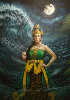 Queen of ocean Kali Goddess, Mother Goddess, Goddess Art, Traditional Eagle Tattoo, Philippine Mythology, Mythology Tattoos, Indonesian Art, Fantasy Art Women, Tiger Art