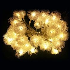 Warm White 20LED 2M Dandelion Flowers Style Fairy Lights 2*AA Battery Operated…