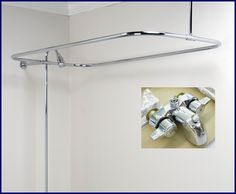 clawfoot tub add on shower chrome rectangular shower rod you remodel