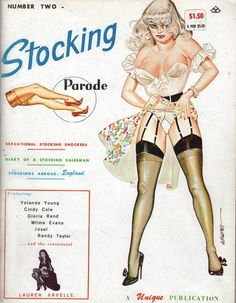 Stocking Parade vol 1 no 2 1965 vintage adult straight magazine collectible