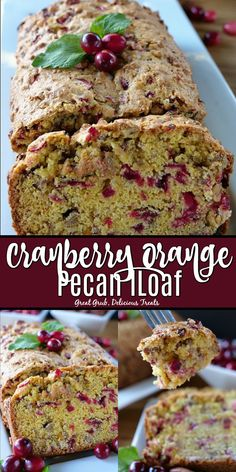 Cranberry Orange Pecan Loaf is a delicious quick bread recipe loaded with fresh cranberries and chopped pecans. Cranberry Orange Pecan Loaf is a delicious quick bread recipe loaded with fresh cranberries and chopped pecans. Cranberry Pecan Bread Recipe, Cranberry Quick Bread, Fresh Cranberry Recipes, Cranberry Orange Bread, Pecan Recipes, Quick Bread Recipes, Pecan Desserts, Baking Recipes, Healthy Nut Bread Recipe