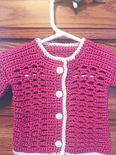 Pink Crochet Baby Sweater