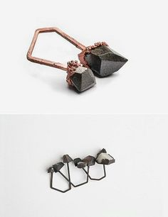 Sculptural Rings inspired by the Scottish landscape - organic jewellery design; art jewelry // Stefanie Cheong