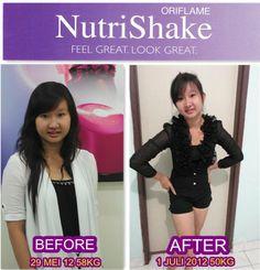 Testimoni NUTRISHAKE Oriflame. Feel Great Look Great!