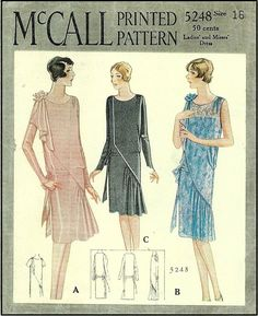 1920s Day / House Dresses and Aprons - Day dresses- Beautiful and ...