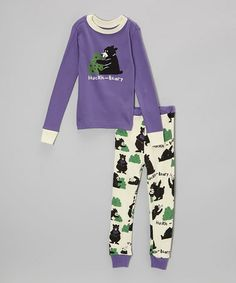 Take a look at this Purple 'Huckle-Beary' Pajama Set - Toddler & Kids by Lazy One on #zulily today! $16